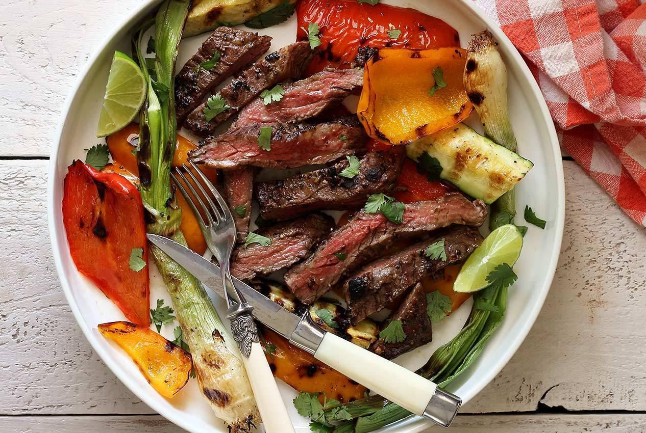 Paleo Diet Food - Vegetables and Steak