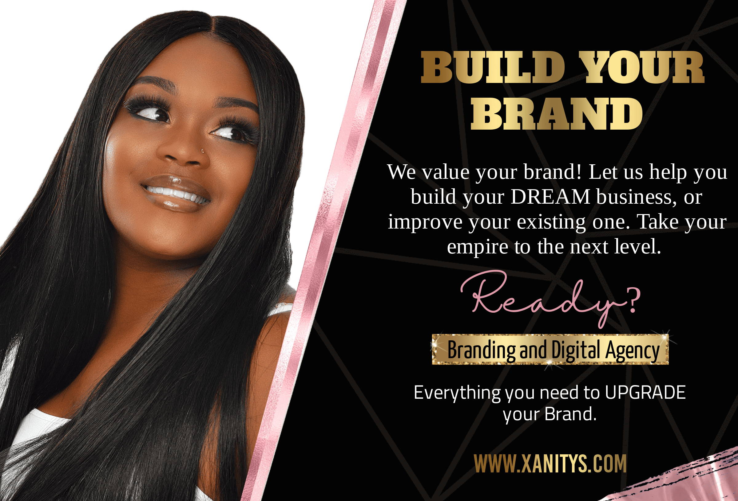 start a hair business, branding business, hair website, graphic designer