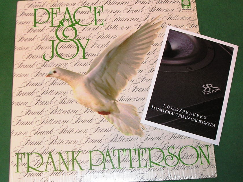 FRANK PATTERSON - PEACE & JOY - * RARE 1980 PETERS INTERNATIONAL/POLYGRAM PRESS * Recorded in Ireland - NM 9/10