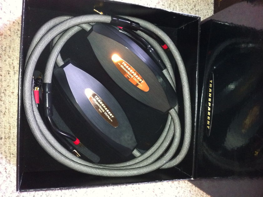 Transparent Musicwave Ultra MM1 8 foot pair speaker cables