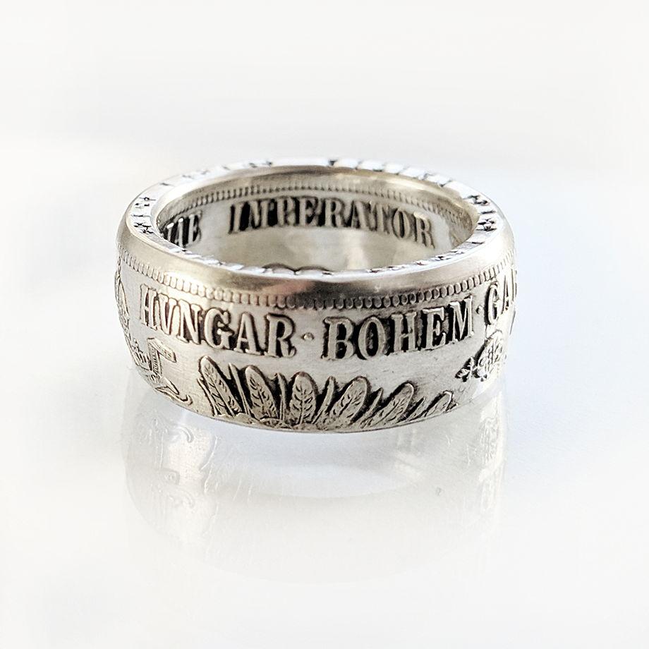 Кольцо из монеты - Австро-Венгрия 1 флорин