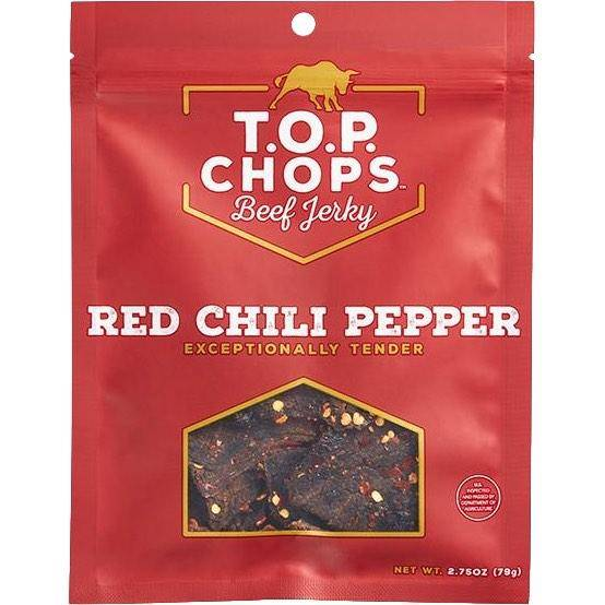 TOP CHOPS Red Chili Pepper Gluten-Free Beef Jerky