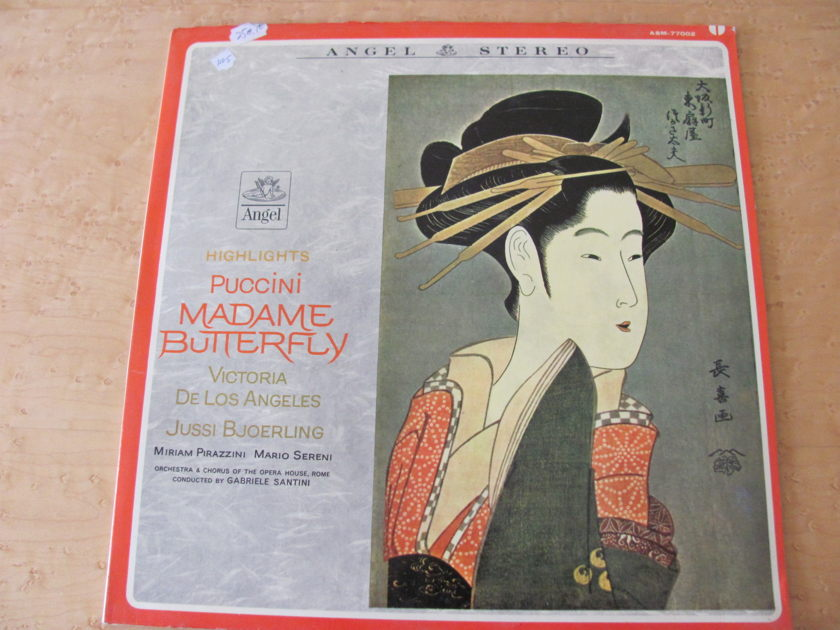 Puccini: Madame Butterfly highlights,  - Angel Records, Gabriele Santini, Orchestra & Chorus of the Opera House- Rome, NM
