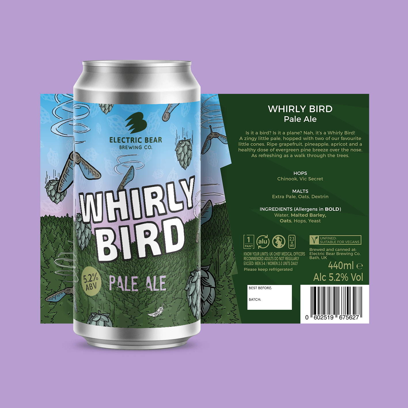 Whirly Bird pale ale brand image