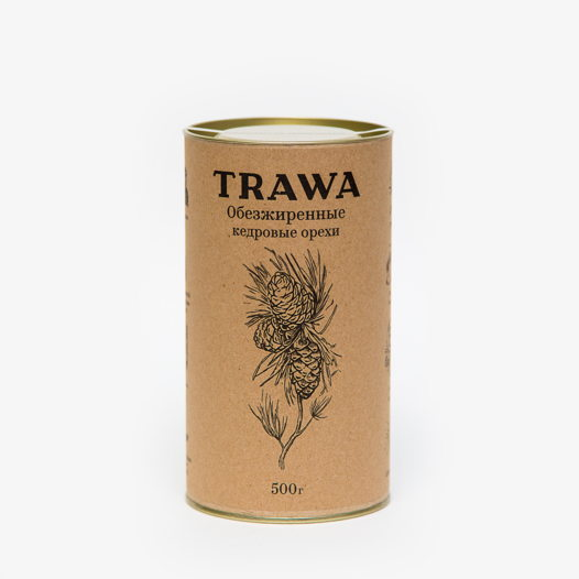 Обезжиренные кедровые орехи TRAWA