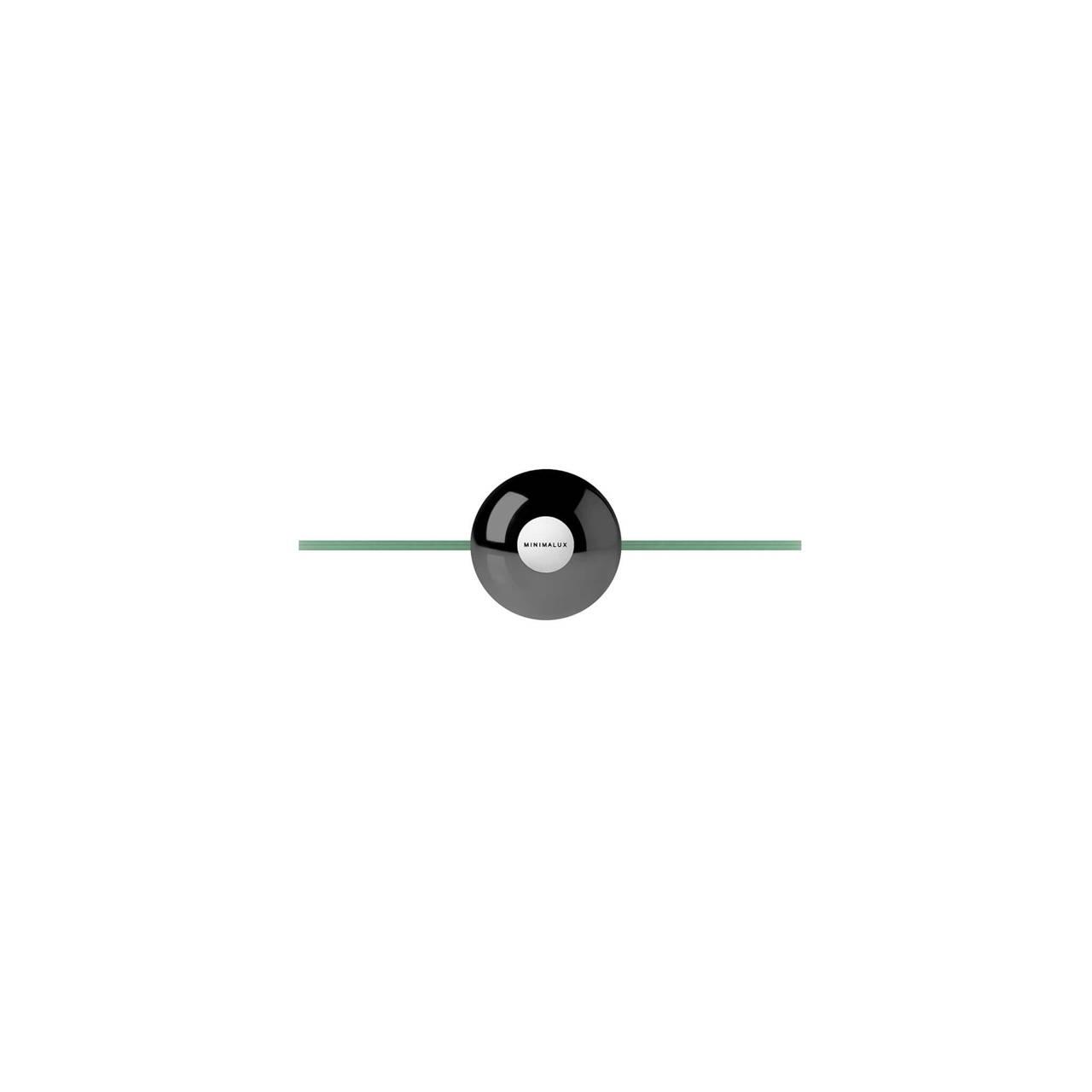 O-Mirror in Black Nickel finish base detail