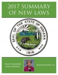 2017 Summary of New Laws - Sen. Leising