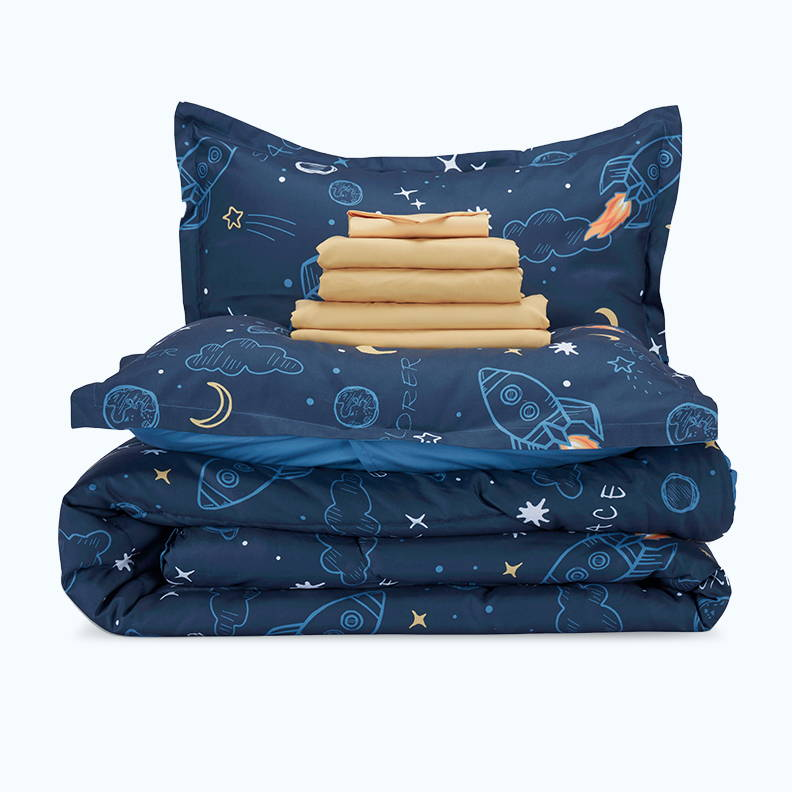 sleep zone bedding website store products collection kid's comforter set boy navy blue