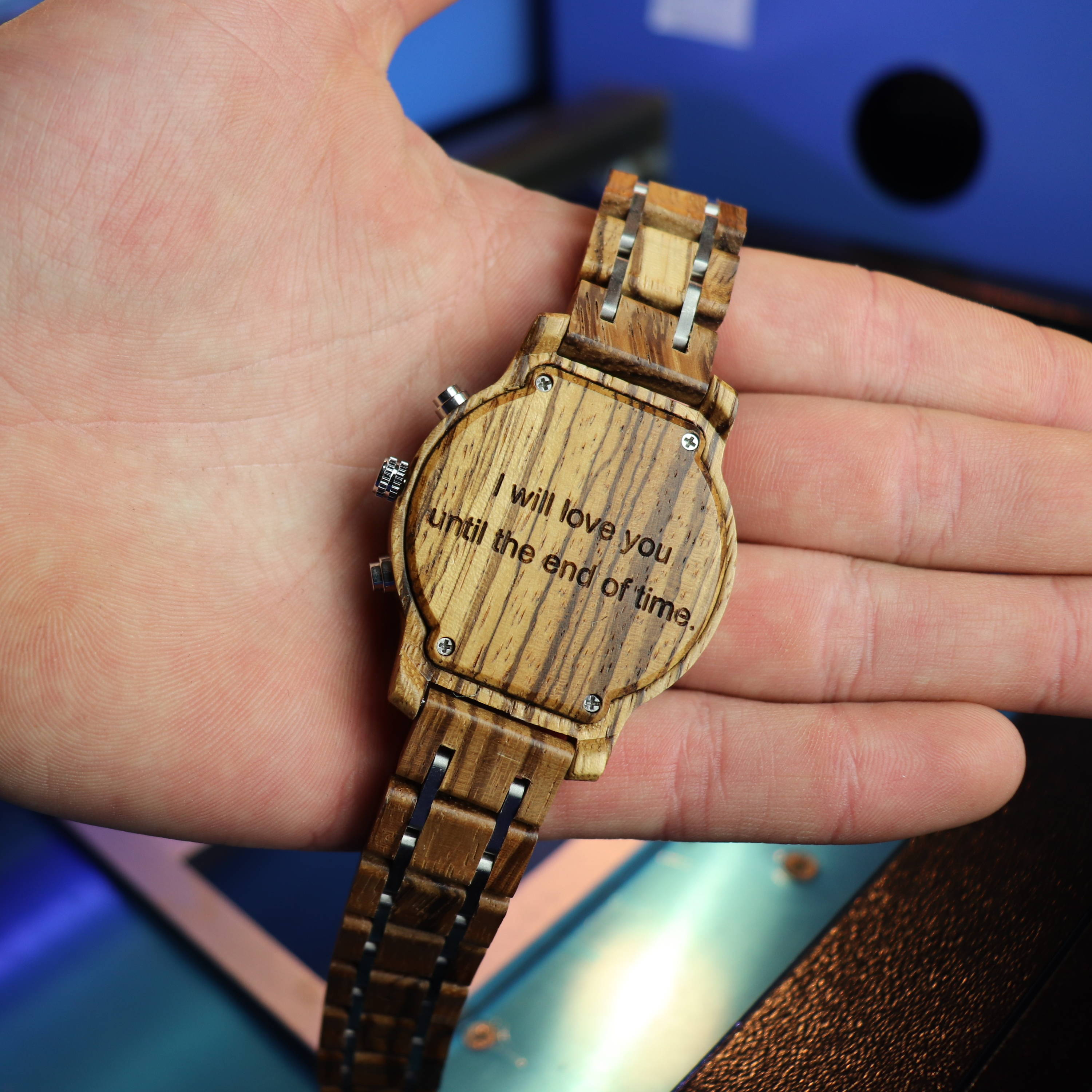 Engraved Zebra Watch for Anniversary
