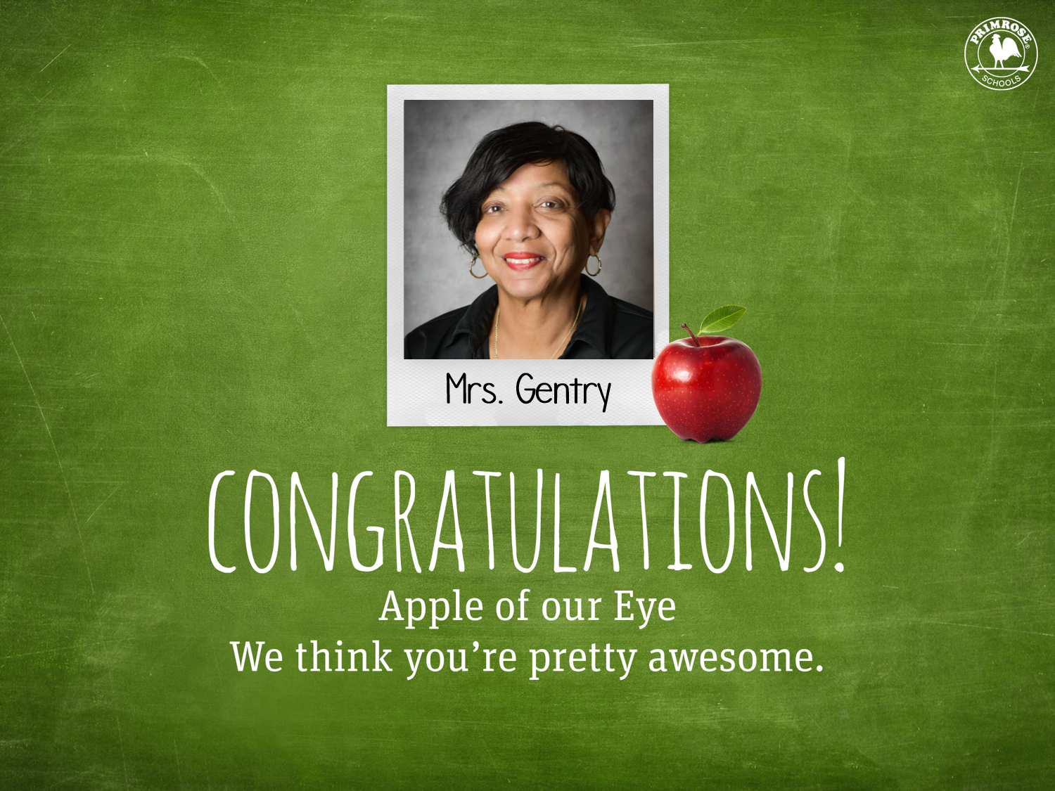 Mrs Gentry Apple of our Eye
