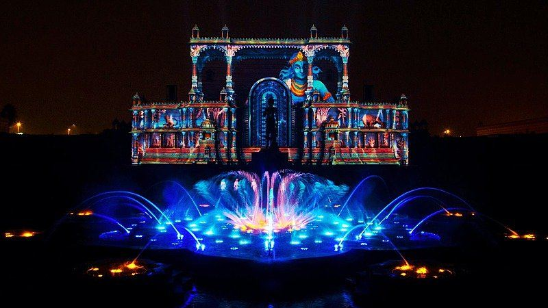Akshardham water show, New Delhi, India