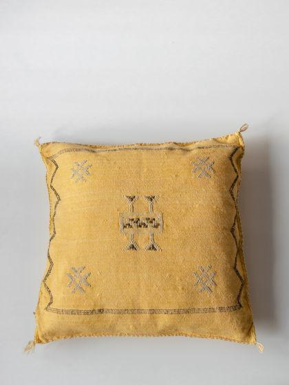 Подушка из шелка агавы Yellow