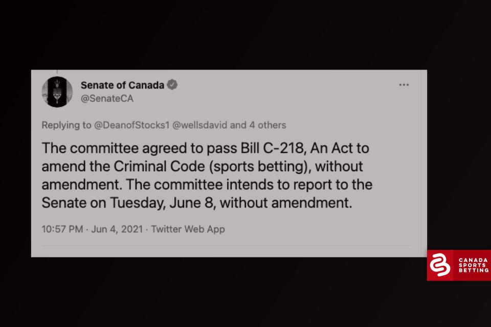 Update Bill C-218: Senate Banking Committee reports no amendments, bill headed to Senate Third Reading and Royal Assent