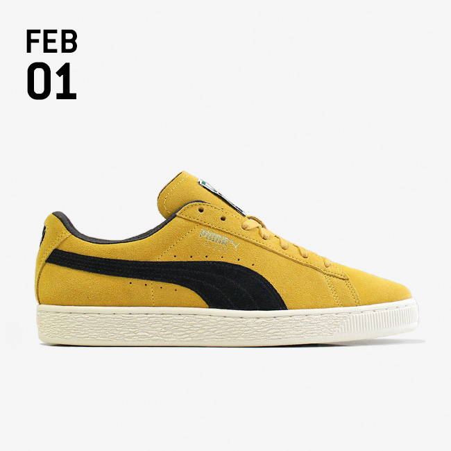 0cff72481f4741 Puma Suede Classic Archive Shoes - Mineral Yellow  Puma Black ...