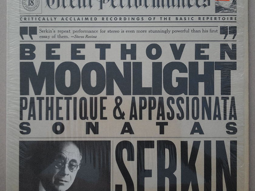 CBS | SERKIN/BEETHOVEN - Moonlight, Pathetique, Appassionata Sonatas / NM