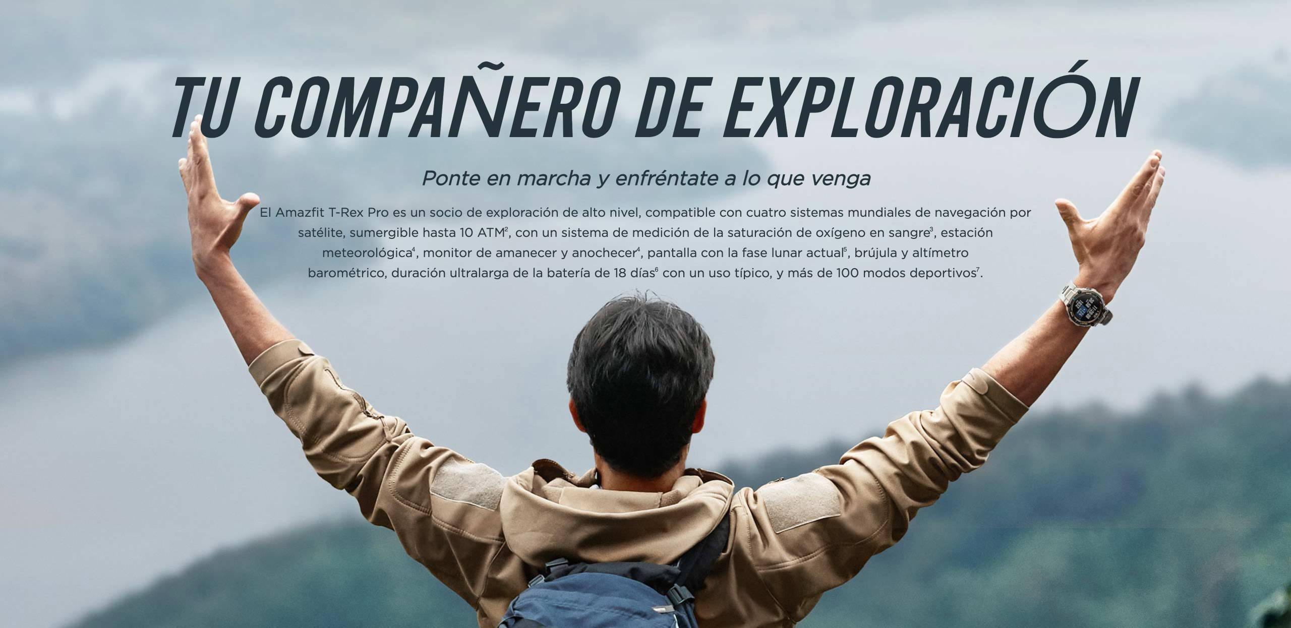 Amazfit T-Rex Pro - TU COMPAÑERO DE EXPLORACIÓN