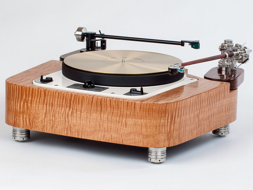 Turnkey Garrard 301  completely refurbished, ready to go. With Curly Maple plinth, Tenuto Mat