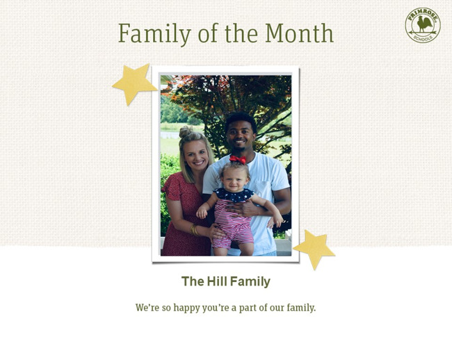 Congratulations on being our July family of the month!