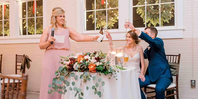 Who Gives a Wedding Toast