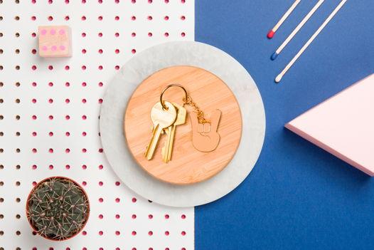 Брелок эмоджи с DOIY Emoji Keyring - Rock