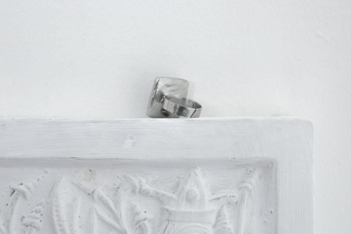 """Безразмерное кольцо из стекла """"Квадрат"""""""