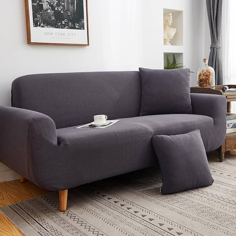 housse de canapé imperméable grise