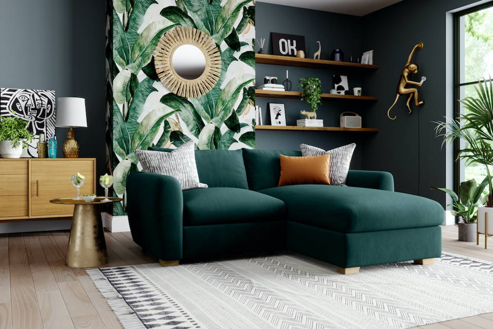 Snug Modern Chaise Corner Sofa