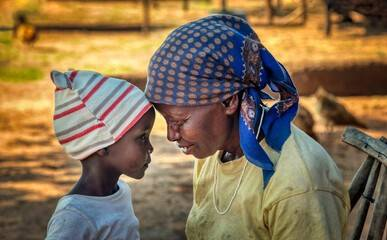 mother & daughter sub sharan africa