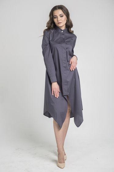 Платье-рубашка ассиметричное хлопковое CAURIS