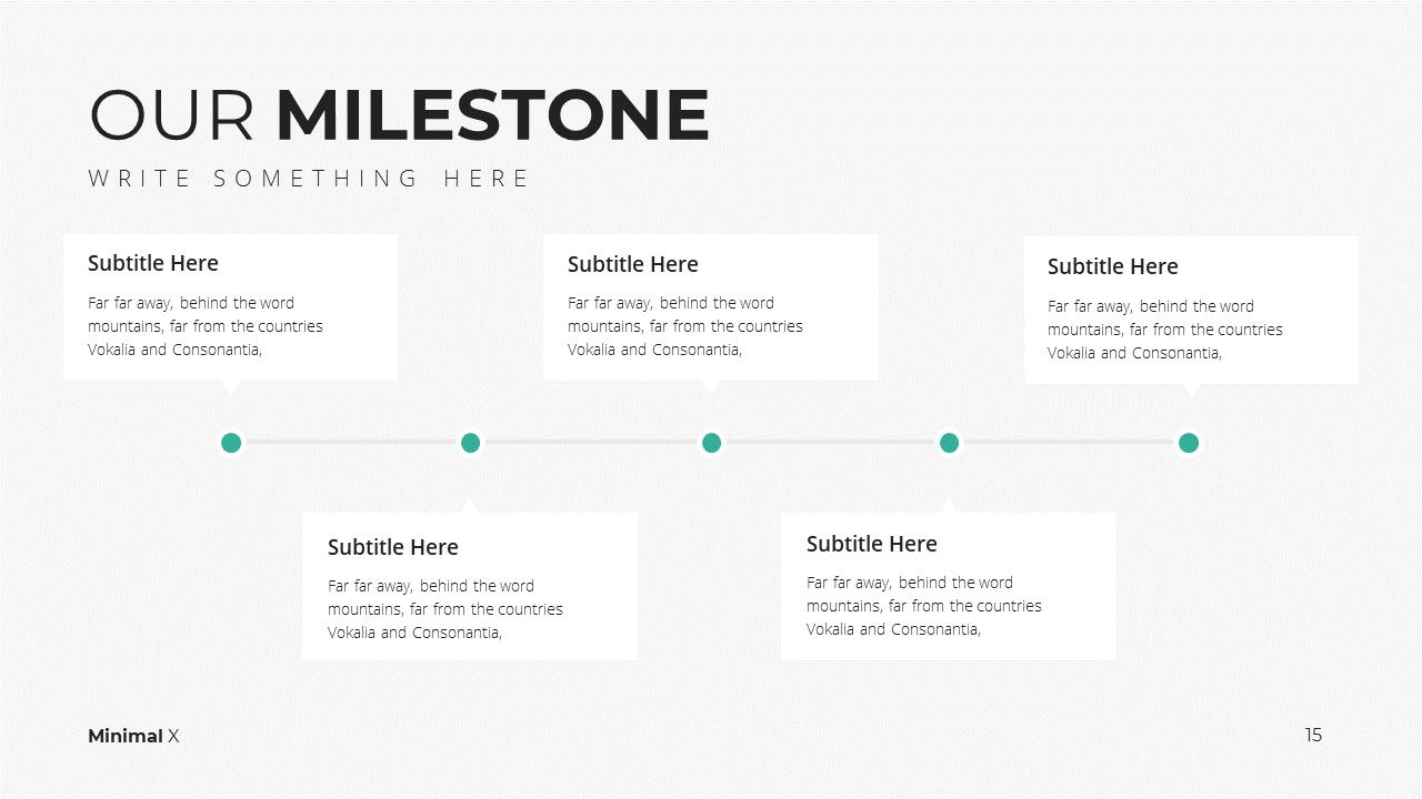 Minimal X  Company Profile Presentation Template Milestone