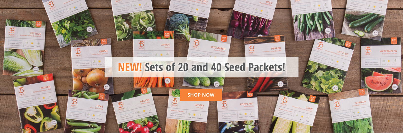 NEW! Sets of 2- and 40 Seed Packets!