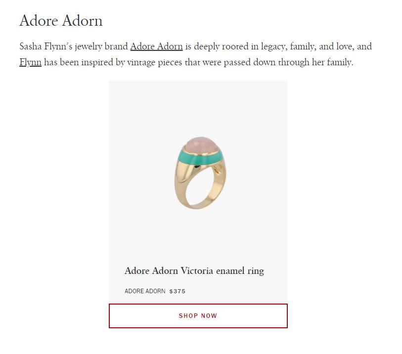 Harper's Bazaar Adore Adorn