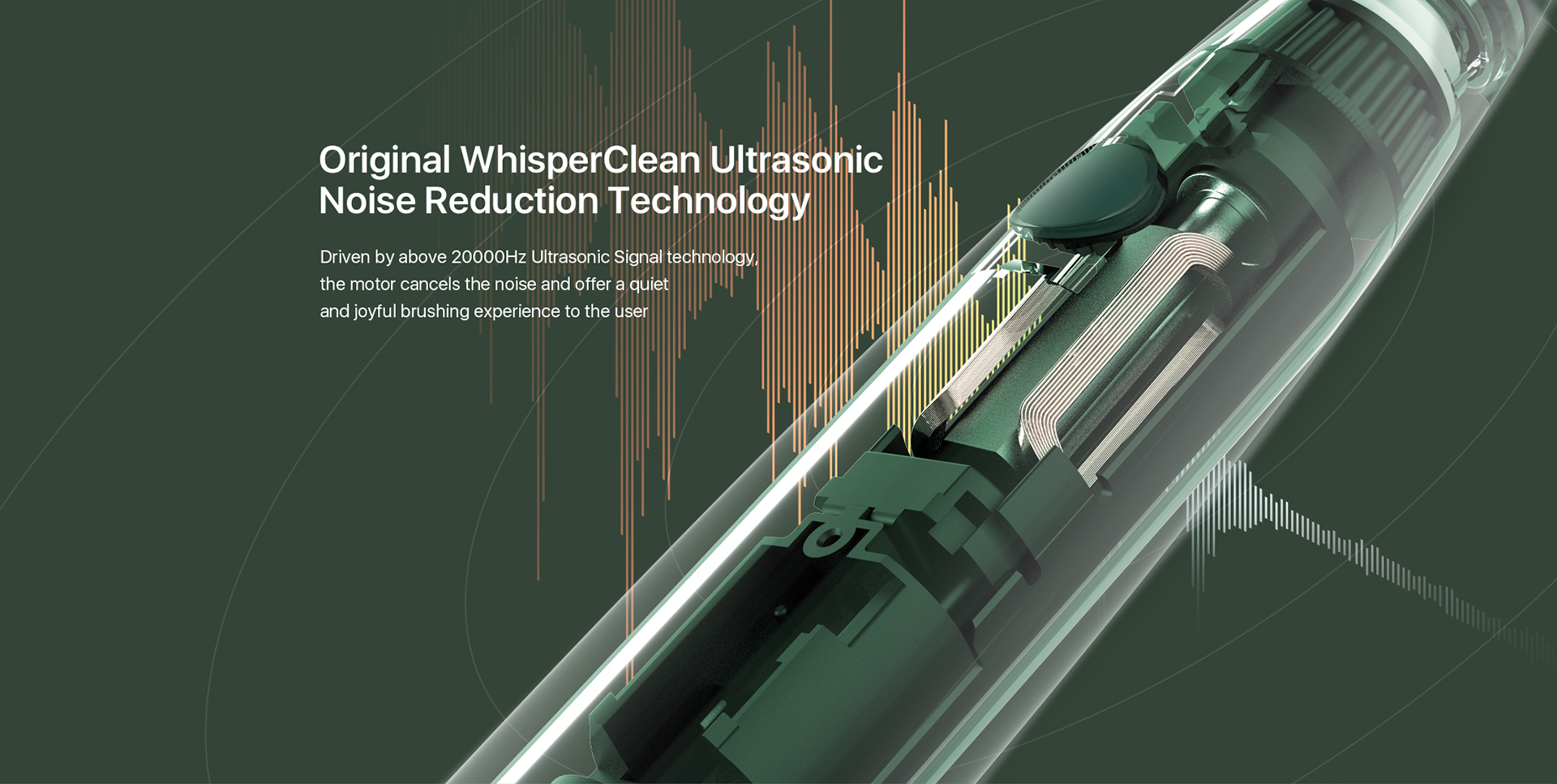Origianl WhisperClean Ultrasonic Noise Reduction Technoloogy