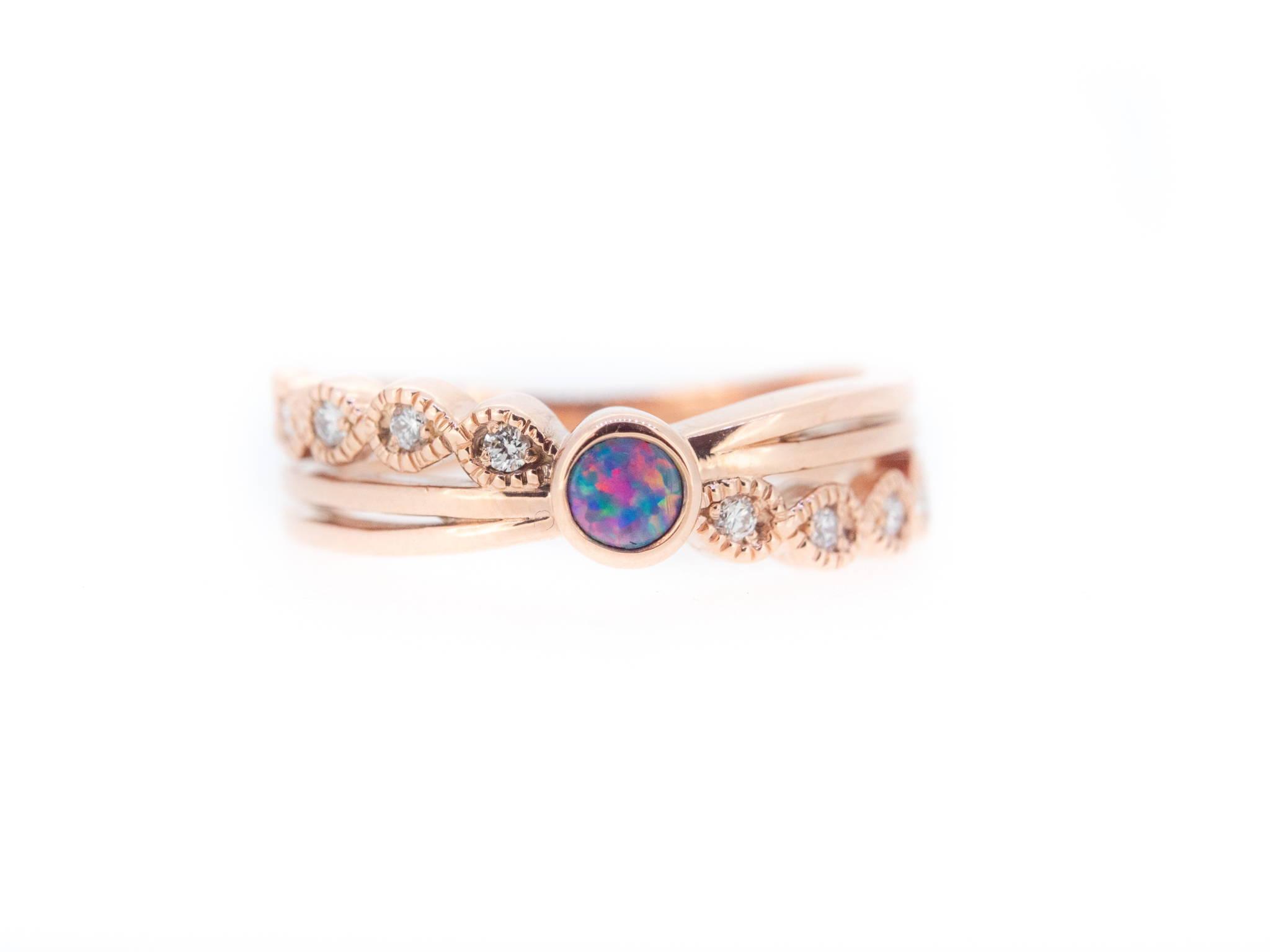 funky opal ring