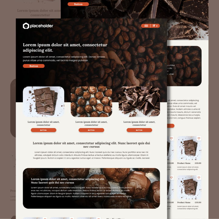 Chocolate template's featured image