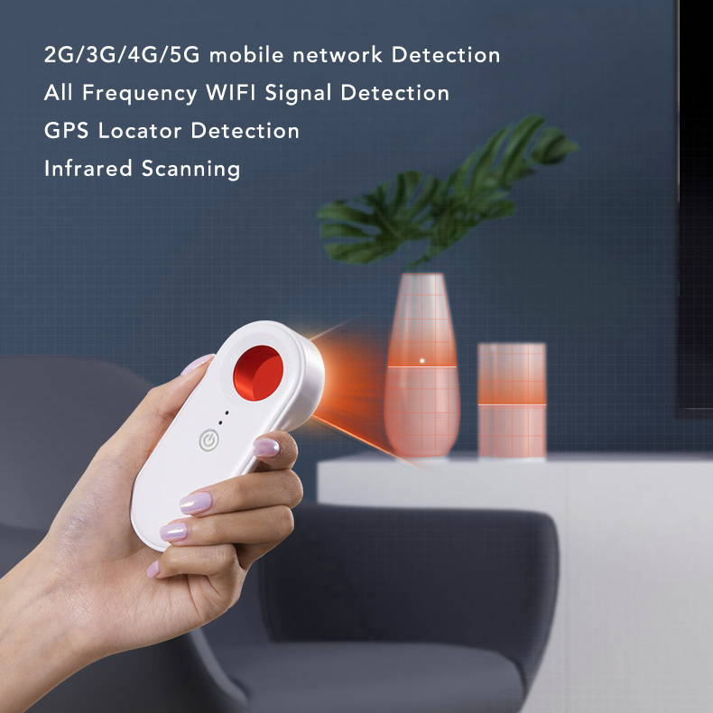 vesany hidden spy cam detector, infrared scanning to find hidden cameras, discover hidden spy cameras in a hotel room