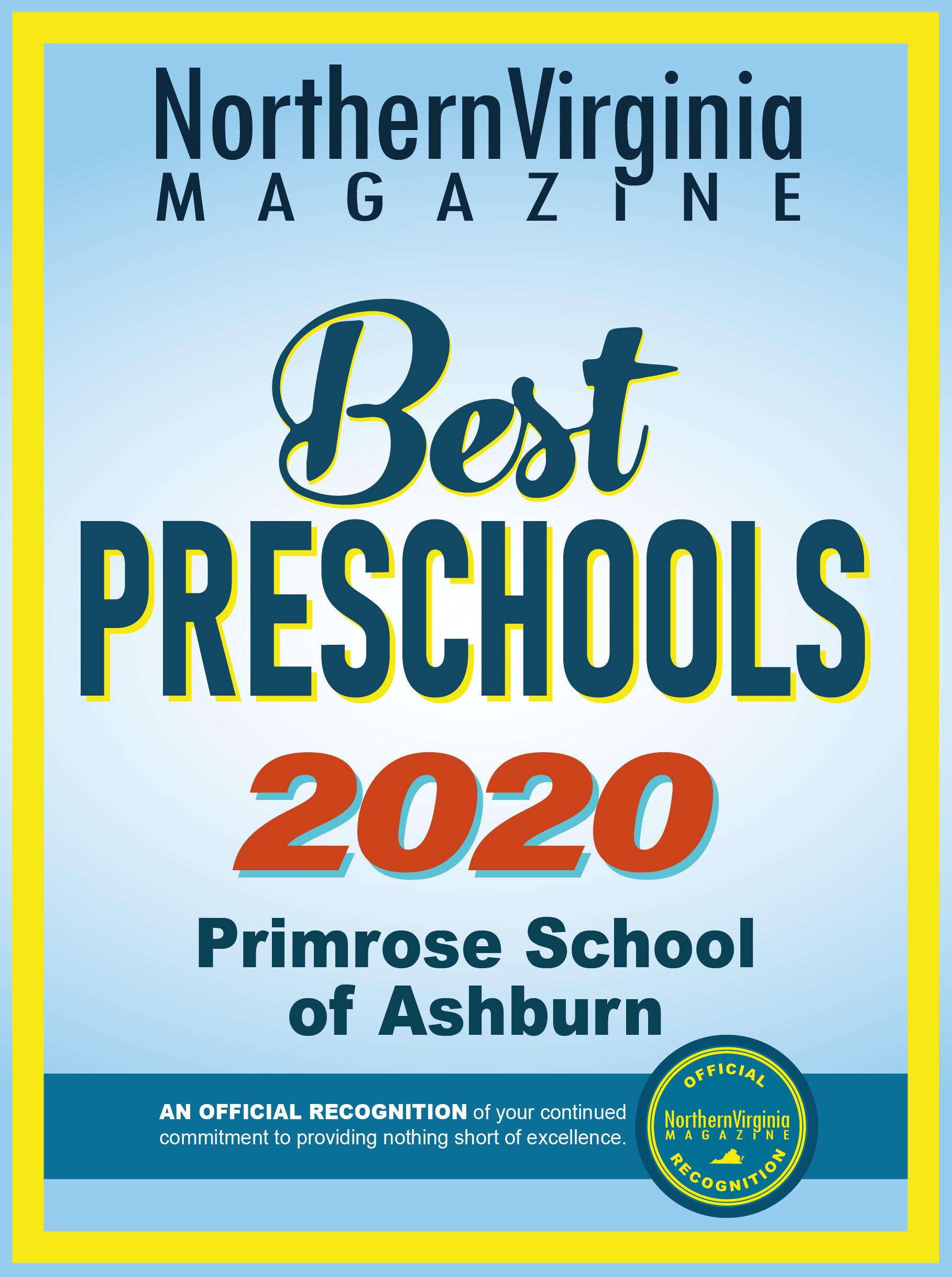 Best preschool Primrose Ashburn