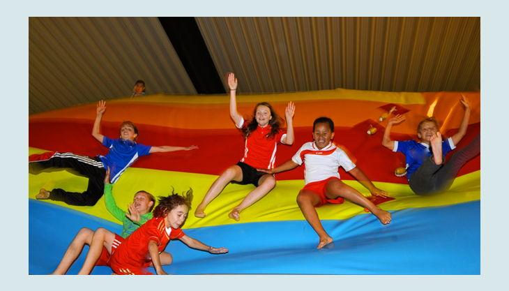 trampolino kinderspielpark wabbelberg