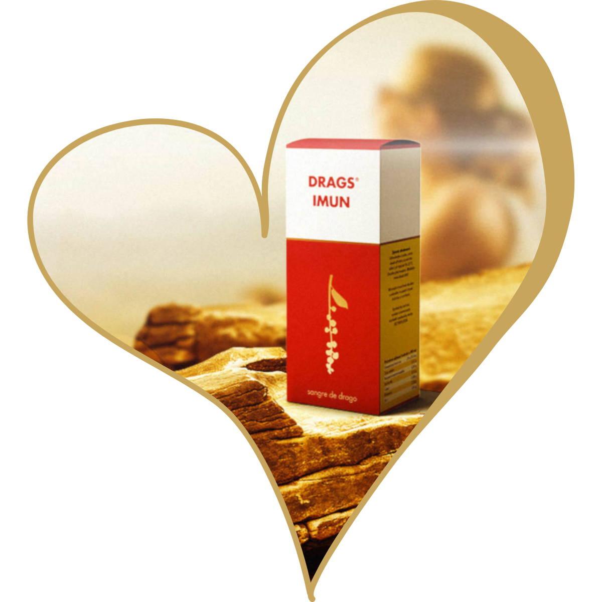 Herz mit Drags Imun
