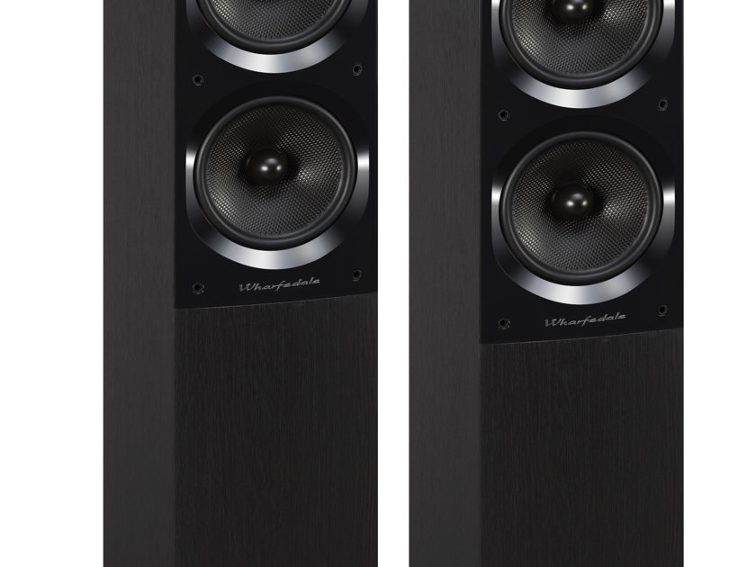 Wharfedale Quartz Q7 Floorstanding Loudspeakers (Black): New-In-Box; Full Warranty; 60% Off