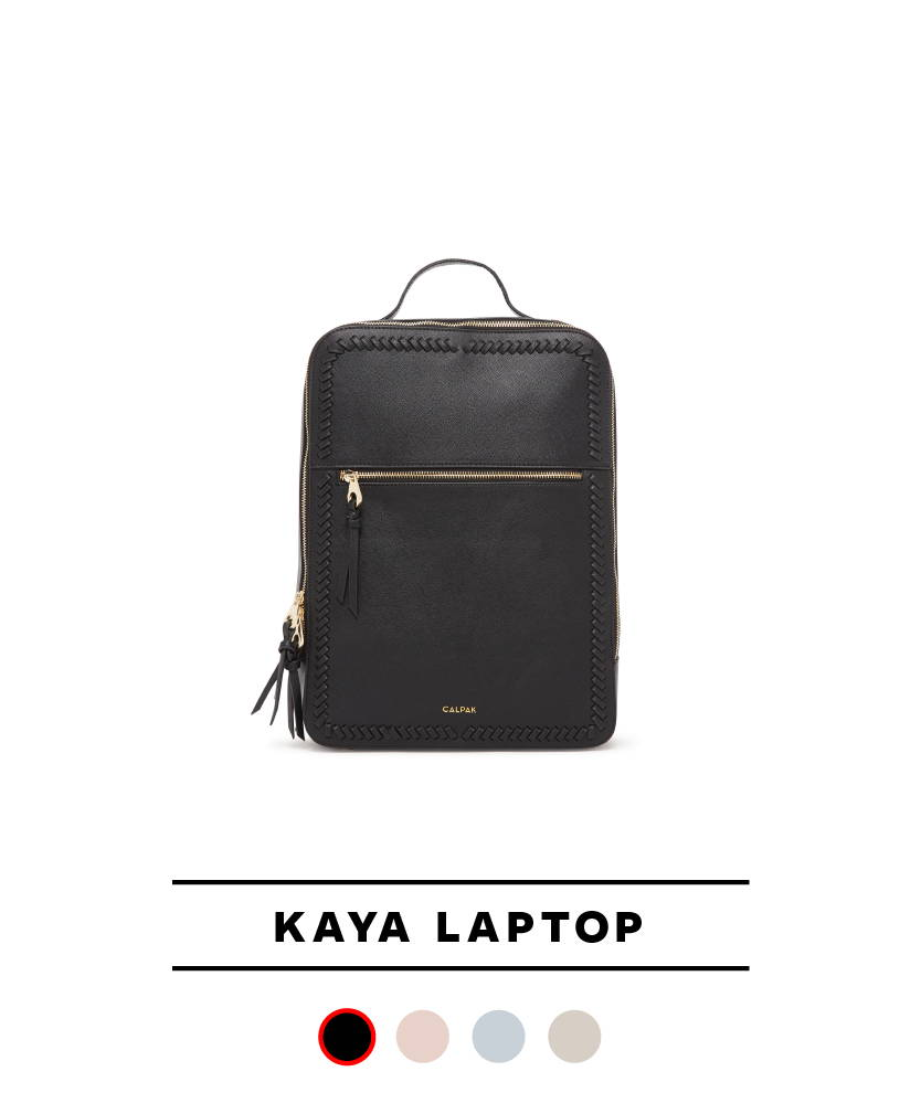 Kaya Laptop Backpack in Black