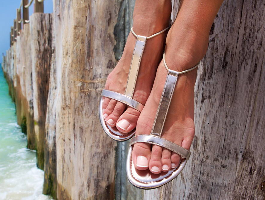 Sandals Metallic By With My Sands