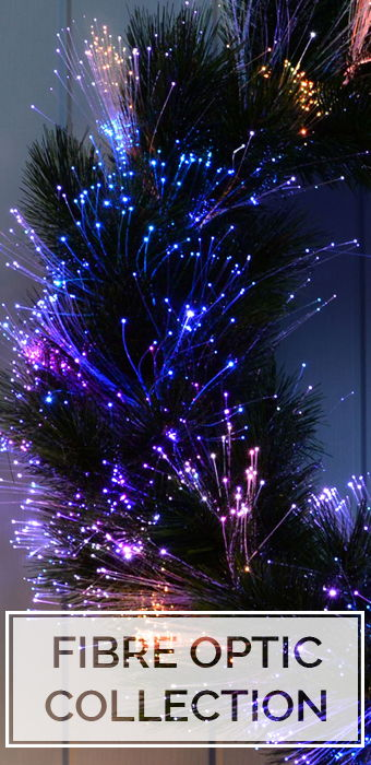 Fibre Optic Wreaths and Garlands