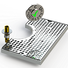 Surface Mount Drip Tray with Cutout