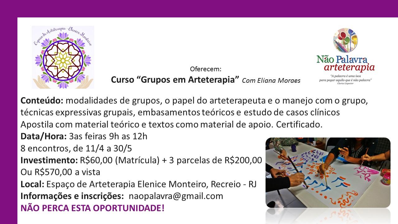 Curso Grupos em Arteterapia