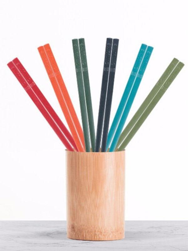 Designer Chopstick 6 Piece Set