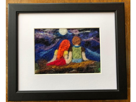 Under the Moon Felted Picture