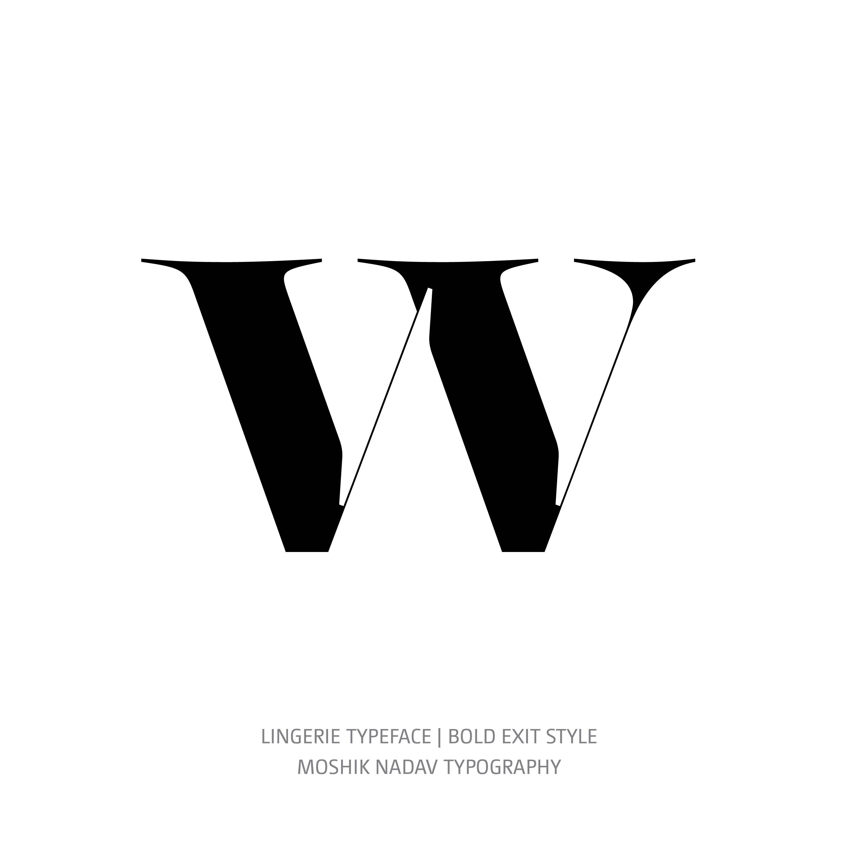 Lingerie Typeface Bold Exit w