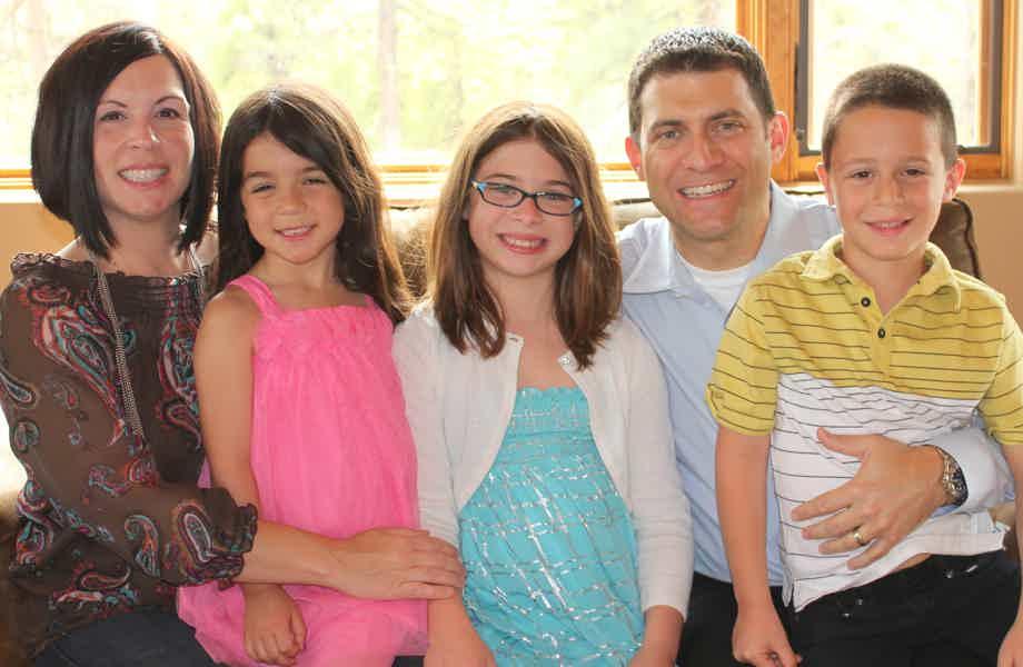 Franchise Owners of Primrose School Karen & Michael Verlardi with their family