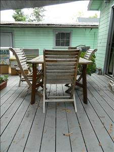 patio table & chairs wood